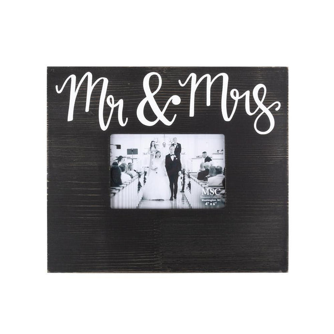 Mr. and Mrs. Black Box Frame with Handlettering