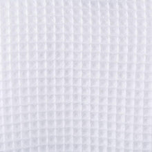 Fabric closeup of the bridal waffle weave robe