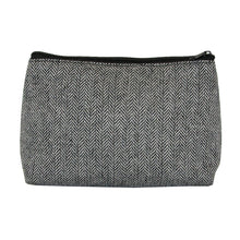 Load image into Gallery viewer, Our Black Herringbone Cosmetic Pouch