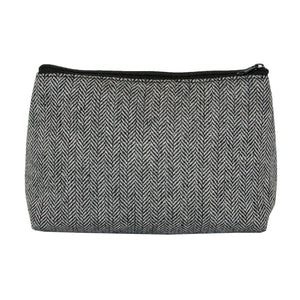 Our Black Herringbone Cosmetic Pouch