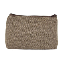 Load image into Gallery viewer, Our Brown Herringbone Cosmetic Pouch