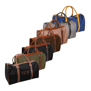 Monogrammed image of our Men's Canvas Duffle Bags
