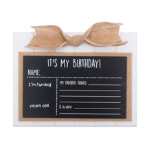 "Load image into Gallery viewer, ""It's My Birthday"" Baby Chalkboard"
