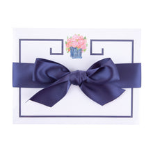Load image into Gallery viewer, Top view of our Navy Rose Southern Blooms Desk Notepad