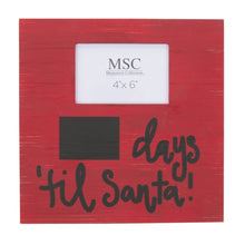 Load image into Gallery viewer, Front view of our Days Til Santa Frame