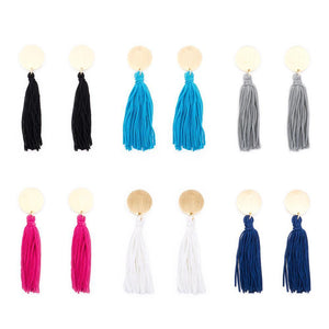 Collection of Disc Tassel Earrings