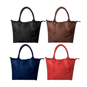 FALL PEBBLE GRAIN HOUSTON HANDBAG PREPACK 12PCS
