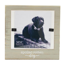 "Front view of our ""Spoiled Rotten Dog"" Block Frame"