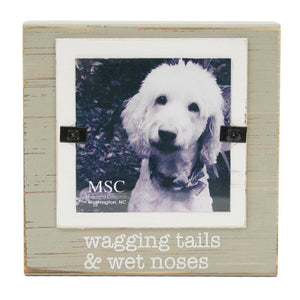 "Front view of our ""Wagging Tails & Wet Noses"" Block Frame"