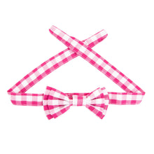 View of our Pink Gingham Sunglass Strap
