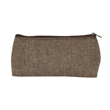 Load image into Gallery viewer, Front view of our Brown Herringbone Grab 'N' Go Pouch