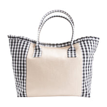 Front view of our Black Gingham Tote