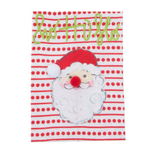 Load image into Gallery viewer, Front view of our Holiday Ho Ho Merry Santa Guest Towel