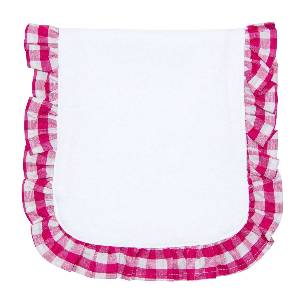 Pink Gingham Burp Cloth