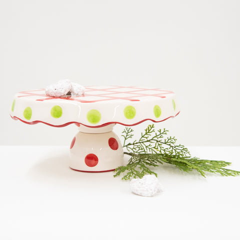 Holiday Swirl Dot Chip Dip + Cake Platter