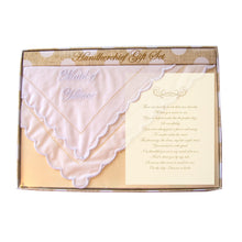 Load image into Gallery viewer, Front view of our Maid of Honor Handkerchief Gift Set