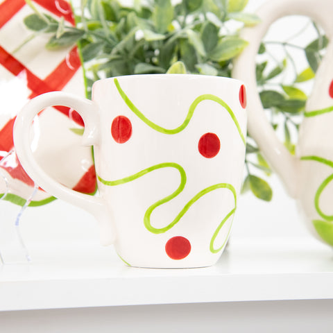 Holiday Swirl Dot Coffee Mug