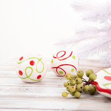Holiday Swirl Dot Salt & Pepper Shakers