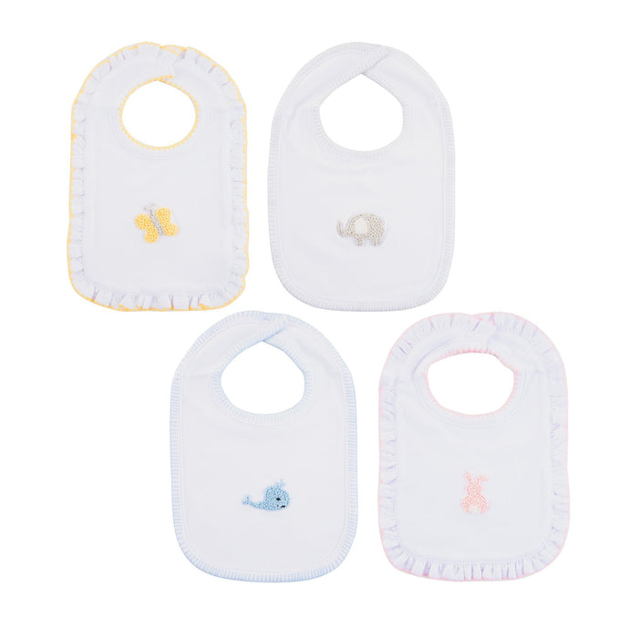 Front view of our French Knot Bibs