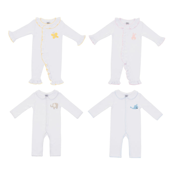 Front view of our French Knot Convertible Onesies