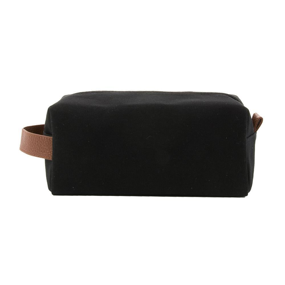 Front view of our Black Kentucky Dopp Kit