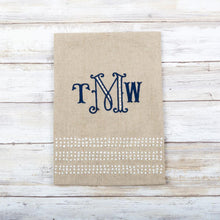 Load image into Gallery viewer, monogrammed guest linen towel