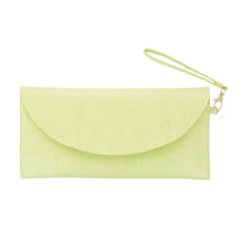 Load image into Gallery viewer, Front view of our Green Lizard Foldover Clutch
