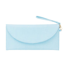 Load image into Gallery viewer, Front view of our Turquoise Lizard Foldover Clutch