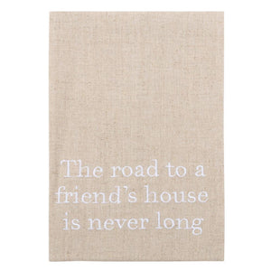 """The Road to a Friend's House"" Linen Guest Towel"