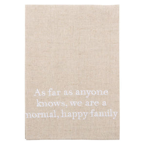"""Normal Family"" Linen Guest Towel"