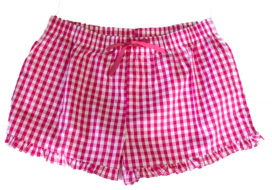 Gingham Ruffle Lounge Shorts