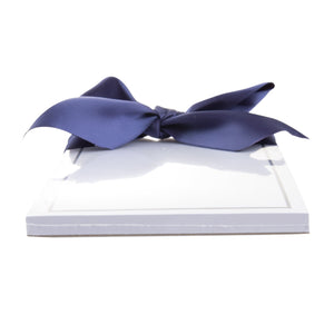 Side view of our Navy Rose Southern Blooms Magnetic Notepad