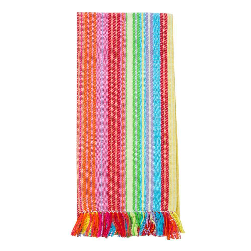 Multi Stripe Fringe Dish Towel