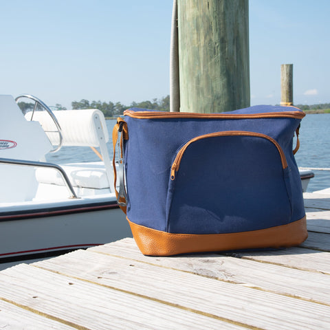 Lifestyle image of our Men's Cooler with Bottle Opener