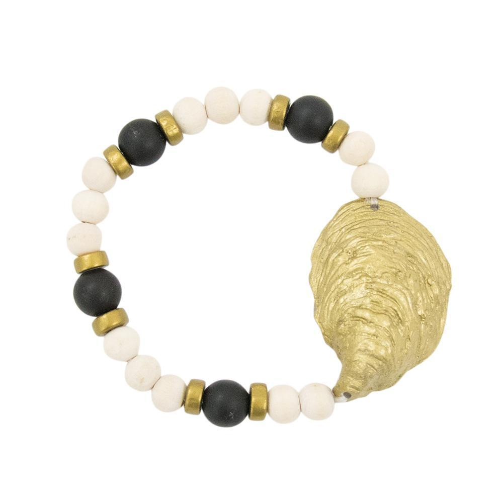 Front view of our Gold Oyster Shell Bracelet
