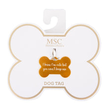 "Front view of our ""Your Can't Keep Me"" Pet Tag"