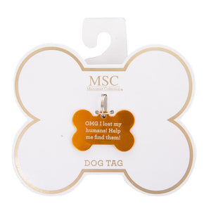 "Front view of our ""Call My People"" Pet Tag"