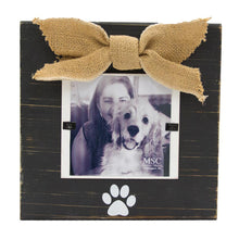 Load image into Gallery viewer, Front vie of our Black Pet Bow Frame