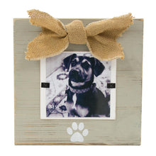Load image into Gallery viewer, Front vie of our Gray Pet Bow Frame