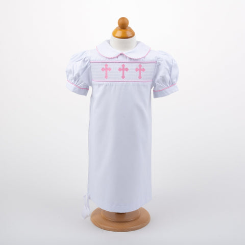 Lifestyle view of our Christening Day gown