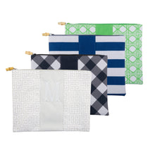 Load image into Gallery viewer, Monogrammed view of our Bamboo Zipper Pouch