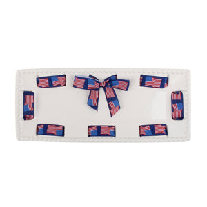 CERAMIC RIBBON RECTANGLE PLATTER