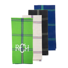 Load image into Gallery viewer, Monogrammed view of our Plaid Dish Towel
