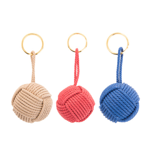 ROPE KNOT KEYCHAIN PREPACK 24PC
