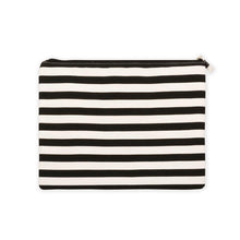 Load image into Gallery viewer, Black stripe family beach pouch