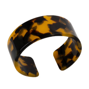 Top view of our Medium Tortoise Cuff Bracelet