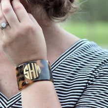 Lifestyle view of our Chunky Tortoise Cuff Bracelet