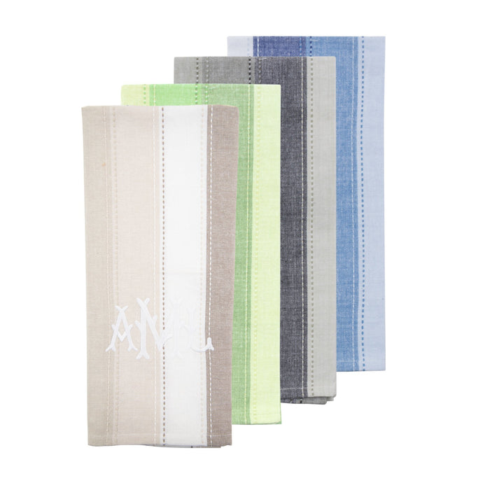 Monogrammed view of our Ombre Stripe Dish Towel