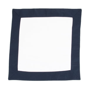 Flat view of our Navy Throw Pillow Cover