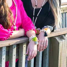 Lifestyle view of our Bead Tassel Bracelets